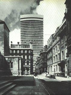 Richard Seifert Drapers Gardens, Throgmorton Avenue, City of London, London (circa 1968) - demolished.