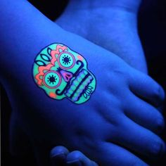 Fluorescent Tattoo Stickers, It will surprise you if you use it with your creativity, click the photo to start your art work.