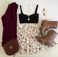 skirt and boots .