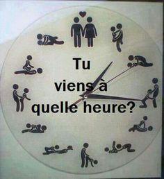Tu viens à quelle heure ?