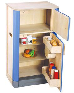 Kitchen Play->Ψυγείο (Ξύλινο Plan Toys 3442) - ΠΑΙΔΙΚΑ ΠΑΙΧΝΙΔΙΑ SmartToys