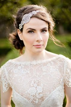 Gorgeous Jules Bridal Jewellery headband shot by Amanda Wilcher | onefabday.com