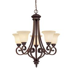 View the Millennium Lighting 1205 Oxford 5 Light Single Tier Chandelier at LightingDirect.com.
