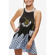 Free People Someone Like You Printed Slip Dress ($88) ❤ liked on Polyvore featuring dresses, black, free people dresses and slip dress