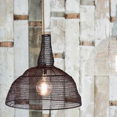 Metal wire mesh pendant lamp light shade conical vintage industrial nkuku jatani wire lamp shade conical rust greentooth Choice Image