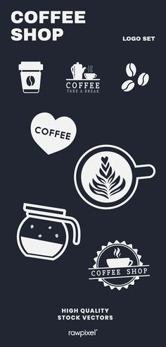 Download these amazing royalty-free coffee shop branding illustrations as well as images, illustrations, psd and vectors at rawpixel.com Coffee Shop Branding, Coffee Shop Menu, Creative Banners, Creative Design, Branding Design, Logo Design, Graphic Design, Coffee Life, Best Banner