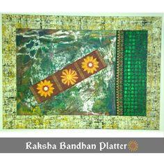 TITLE : Rakhi 🎆  MEDIUM : Acrylics and Inks on Wood.  THEME : Art made depicting a Rakhi -Brother Sister Bond ! #MeghnaCreations #creationsofcolors  #customized #platter #loveforever #ofa #brotherandsister #abstract #contemporary #indianfestival #brothersisterbond #busy #frame #pattern #busypainting #symbolism #rakshabandhan #giftdifferent #mumbai #instaplatter