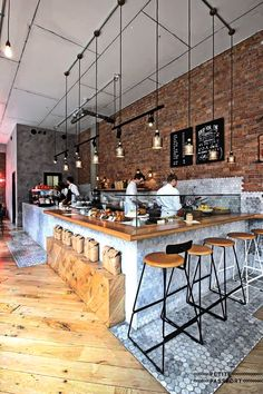 The interior design plays an important part in its functionality. The decent interior design will acquire the interest of the folks at the exact first sight. Cafe Bar, Cafe Shop, Coffee Store, Coffee Cafe, Drink Coffee, Deco Restaurant, Restaurant Interior Design, Modern Restaurant, Café Design