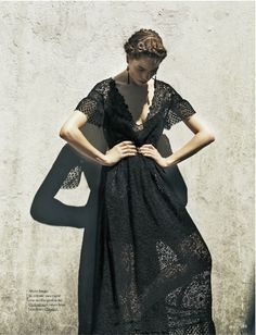 Dramatic lace, love it's romantic feel but edginess/risqué-ness as well