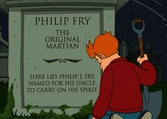"""The Luck of the Fryrish"": When Fry learns that his brother didn't steal his name, he named his son Fry. 