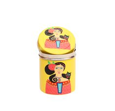 Steel Canister-Lady Set Yellow  This amazing single hand painted steel canister storage container, which is quite airtight can be perfectly used for any kind of storage purpose, it can either be used for storing jewelry, storing any bits and bobs out here. and guess what? These are beautifully hand painted and hand made Stainless Steel Tumblers now for only INR 851 /-  and we only have some few stocks left!. Hurry up before they've gone.