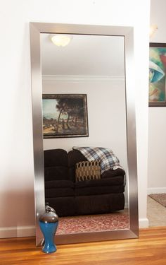 Small Space Living Room, Big Living Rooms, Small Rooms, Small Spaces, Mirror Decor Living Room, Room Wall Decor, Home Decor Bedroom, Mindful Gray, Modern Floor Mirrors