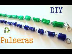 59. Manualidades: Pulseras con cuentas de botellas plásticas(Reciclaje de Pet) Ecobrisa - YouTube