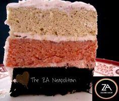 A slice from the ZA Neapolitan Cake #cake #Neapolitan #ZuckerAmor