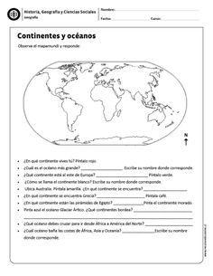 Continentes y océanos