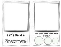 """PRINTED - Winter FREEBIE: """"Let's Build a Snowman"""" {Early Reader - Ready to Illustrate} Little by little, children build their own snowman across the pages of this interactive book. Classroom Fun, Classroom Activities, Winter Activities, Preschool Winter, Preschool Education, School Holidays, Happy Holidays, Winter Holidays, Winter Fun"""