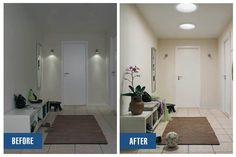 Before & After: installing VELUX skylights or sun tunnels can light internal small hallways making them feel more inviting. Alternatively, you can also install our standard tubelights to acquire the same results!