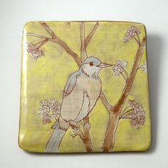 aspeerstudio Song Bird Ceramic Wall Tile