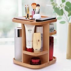 Rotating Wooden Storage Box