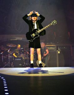 Angus Young Photos - Rockers AC/DC performing in the in Dublin, Ireland. - AC/DC Performing In Concert Rock And Roll Bands, Rock Bands, Music Tv, Music Bands, Ac Dc Rock, Bon Scott, Angus Young, Blues Rock, Def Leppard