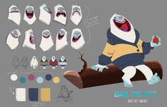 "Character exploration sheet, ""Eddie the Yeti"" children's book   #art #artist #paint #digitalart #digital #painting #visualdevelopment #visdev #illustration #illustrator #design #characterdesign #colour #expression #explore #2d #2dartist #childrensbook #childrensbooks #bookstagram #books #book #cartoon"