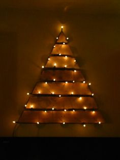 Christmas tree made of pallet