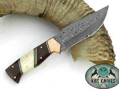 Damascus Hunting Knife – KBS Knives Store Hunting Knives, Damascus Steel, Store, Larger, Shop