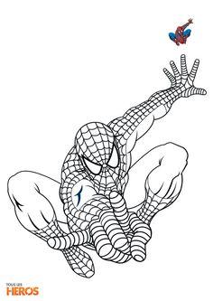 Coloriage spiderman gratuit colorier dessin imprimer dessin pinterest spiderman - Dessin a colorier spiderman moto ...