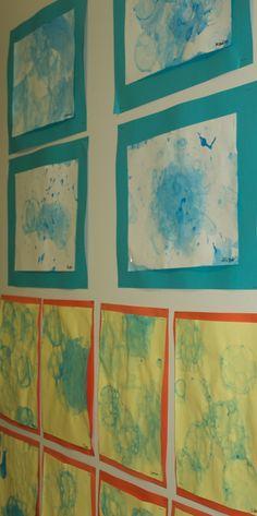 Pre-K3 Bubble paintings
