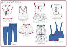 A selection of girlswear apparel design that I have produced as personal projects