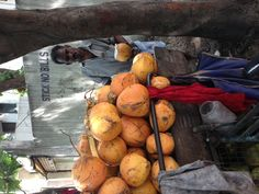 Vender selling tender coconuts in Chennai India