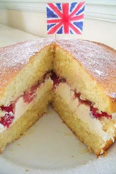 Exploring the World through Cooking with Kids - United Kingdom Victoria Sponge (check out the other entries at: http://pinterest.com/glittmuffins/dishes-around-the-world-in-12-dishes/)