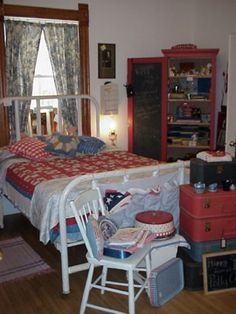 Patriotic / Americana Bedroom At Polly Annu0027s For 4th Of July