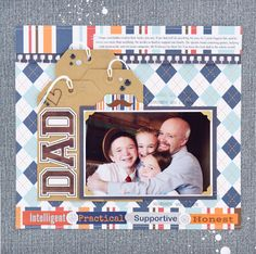 """""""Dad"""" Father's Day Layout by Becki Adams with the """"Team Dad"""" collection from #EchoParkPaper"""