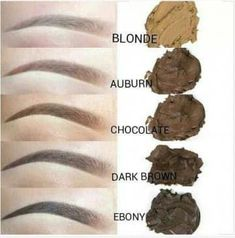 Different Microblading shades. Eyebrow artists mus… Different Microblading shades. Eyebrow artists must choose the right one for brow color and complexion. Sparse Eyebrows, How To Color Eyebrows, Eye Brows, Blonde Eyebrows, How To Pluck Eyebrows, Thicker Eyebrows, Eyebrow Makeup, Skin Makeup, Makeup Tricks