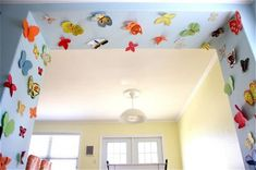 """Paper Butterfly Sanctuary with links to more butterfly crafts. To go with """"Caterpillars and Butterflies"""" Sonlight Science A"""