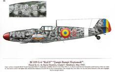 "Messerschmitt Bf 109 G-6 ""Red 8"" Lt.Av. Baciu Dumitru May 1945 Spotlight On : Messerschmitt Bf 109 in Romania ,MMP Books . Dan Melinte & Teodor Liviu Morosanu"