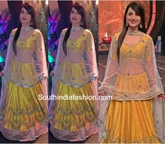 Gauhar Khan in Jayanthi Reddy Label lehenga