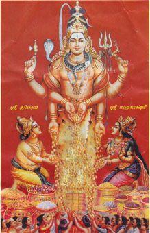 Kubera, Lakshmi, and Shiva