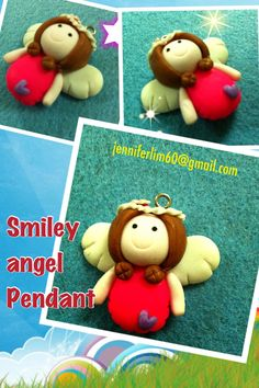 put this Sweet Angel on your hairband or hair clip....or wear it close to your heart as a pendant