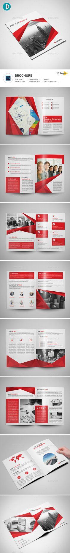 Brochure - #Corporate #Brochures Download here: https://graphicriver.net/item/brochure/18373940?ref=alena994