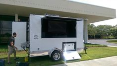 Football Season Is Almost Here.  This Tailgate Trailer Has Everything You Need To Have A Good Time. Bathroom w/Sink, TV, Surround Sound, X-Box, Gas Grill, Yeti Cooler, Corn Hole Game, and Plenty of Inside Storage.  mrtailgate.com Let The Party Follow You!