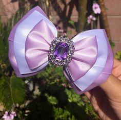 Hey, I found this really awesome Etsy listing at https://www.etsy.com/uk/listing/231980783/purple-princess-inspired-hair-bow