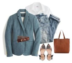 """""""Untitled #1436"""" by kittywitty ❤ liked on Polyvore featuring J.Crew, Brooks Brothers and Madewell"""