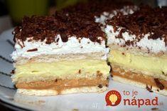 zákusky - Page 5 of 85 - Mňamky-Recepty. No Bake Cookies, No Bake Cake, My Recipes, Cake Recipes, Mini Cheesecakes, Food Cakes, Sweet Desserts, Tiramisu, Sweet Tooth
