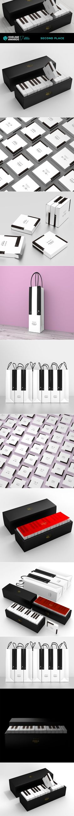 The Dieline Awards 2017: MARAIS Piano Cake Packaging — The Dieline | Packaging & Branding Design & Innovation News