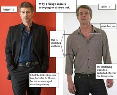 Trivago Guy! Some ladies (and dudes) are turned on by the struggling alcoholic look. I think he's every stylists dream assignment.