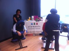 Our amazing therapists working hard to make your day better!!