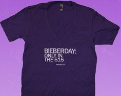 You know where Bieberday is going down.  Now it's time to alert the rest of your posse with this fresh new shirt.  Only in the 515, it's not just the locale for Bieberday, but truly a state of mind.  Hollywood can keep it's 323 area code, all the peeps in the know can attest the 515 is alive.  Run and tell that.   $9.49 at http://bieberday.com/Shop/