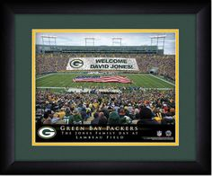 Your Name on a sign in Green Bay Lambeau Field, Your Day at the Stadium.  Great gift for Packers Fans. Customize with your name on cards held by the fans and make it Your Day at the stadium! #GreenBayFan #TheGreenAndGold
